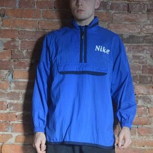 Vintage Nike 90s Blue Windbreaker Jacket - Fall
